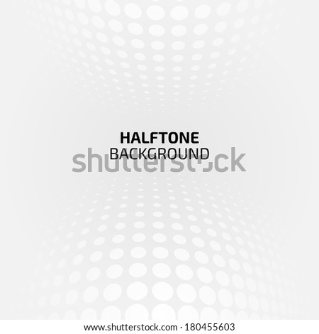 White and gray abstract perspective background with halftone - stock vector