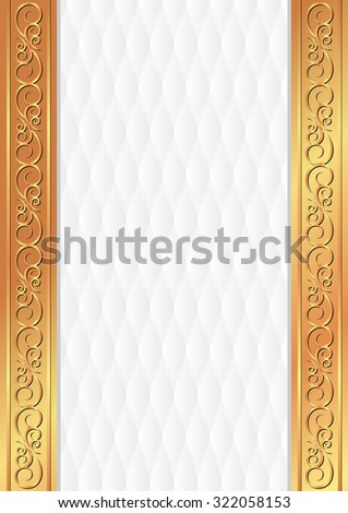white background with golden ornament - stock vector