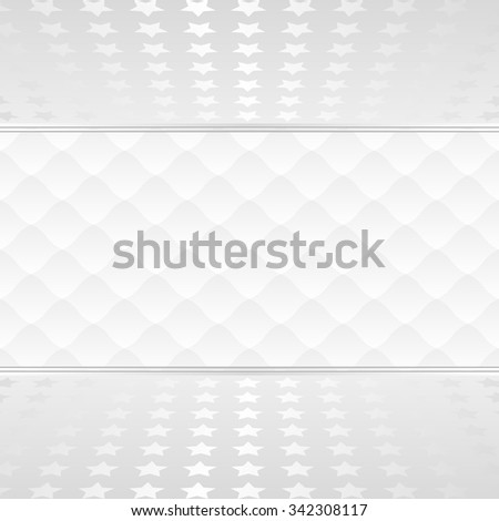 white background with stars and pattern - stock vector