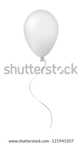 White balloon isolated on white - stock vector