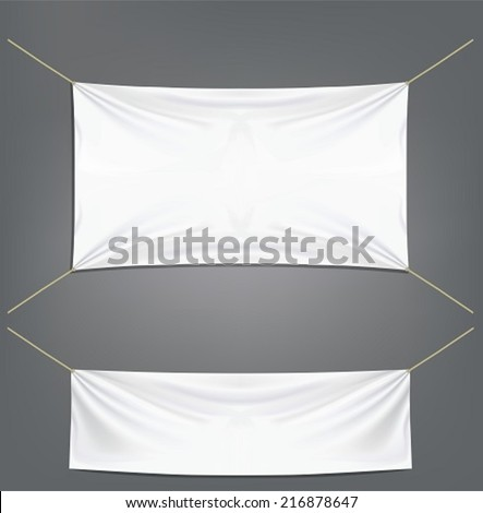 White banners with garters - stock vector