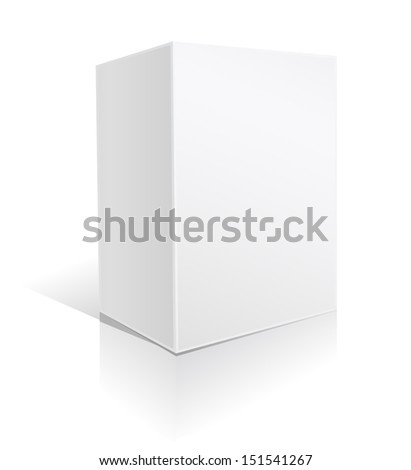 white big box on white  - stock vector