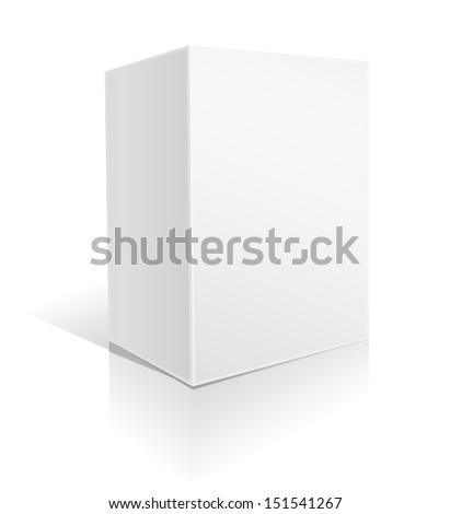 white big box on white  - stock vector