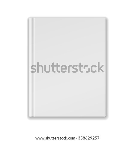 White Blank Book Or Notebook Template. Vector. - stock vector