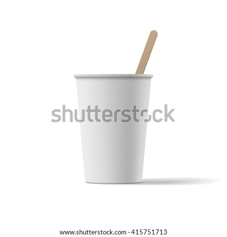 White blank Coffee Cup realistic Mockup - stock vector