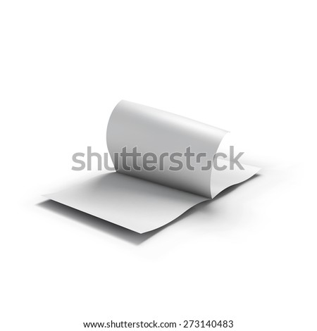 White blank magazine spread. Business mockup template. Presentation of your branding and identity design. Vector Illustration EPS10. - stock vector