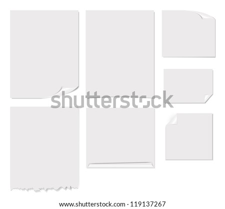 White blank page vector illustration - stock vector