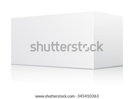 White Blank Paper Box : Vector Illustration - stock vector