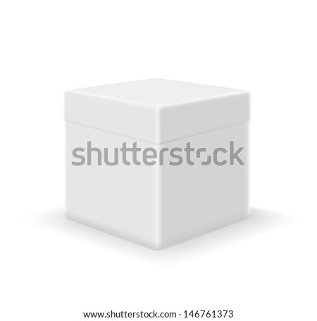 white box - stock vector