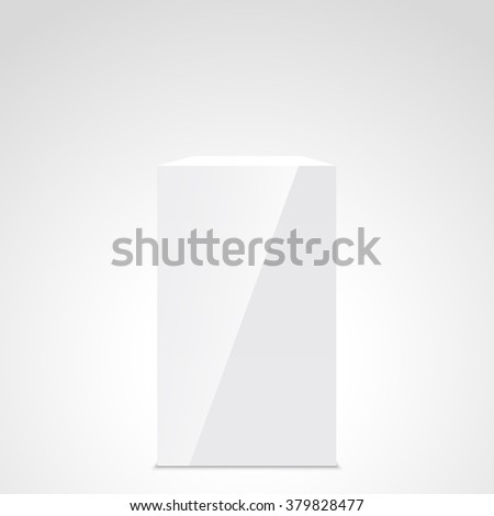 White box. Cuboid. Stand. Pedestal. 3D. Vector illustration. - stock vector