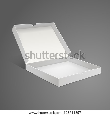 White Box from pizzas on a gray background - stock vector
