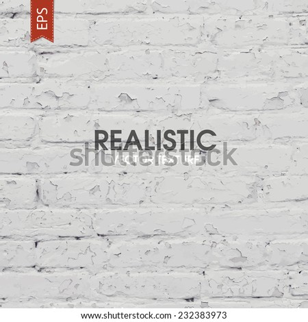 White brick traced texture - stock vector