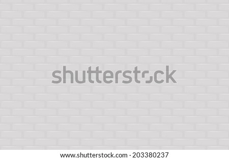 White brick wall seamless background, vector illustration - stock vector