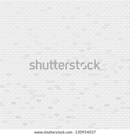White brick wall vector background - stock vector
