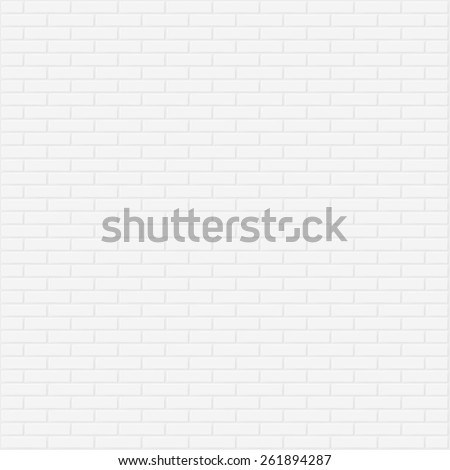 White brick wall vector background. - stock vector