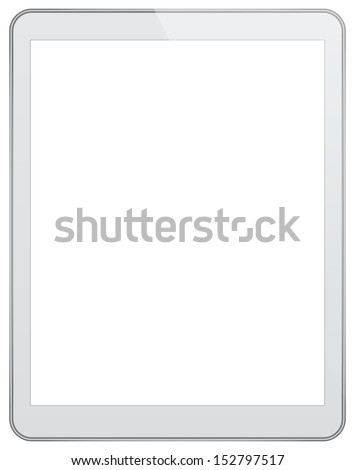 White Business Tablet Similar To iPad - stock vector