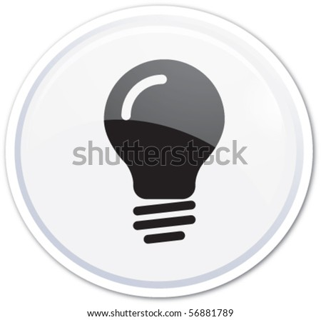 White button bubble - stock vector