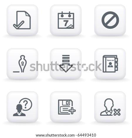White button for web 2 - stock vector