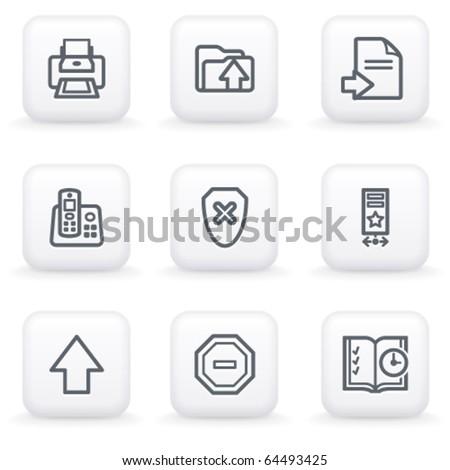 White button for web 4 - stock vector