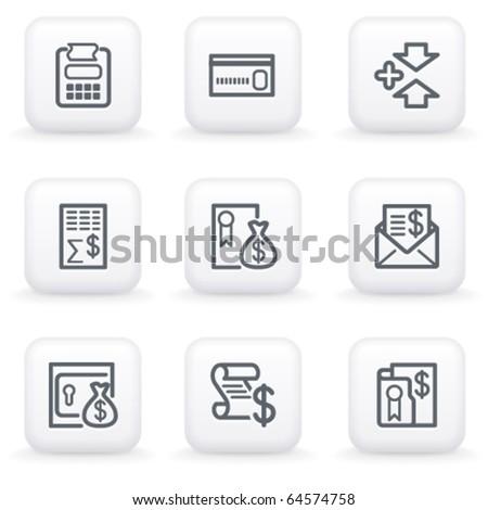 White button for web 14 - stock vector