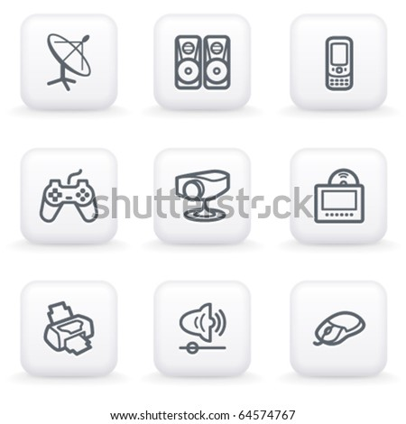 White button for web 21 - stock vector