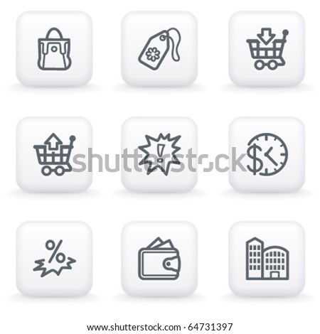 White button for web 26 - stock vector