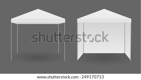 White canopy or tent, vector illustration. - stock vector