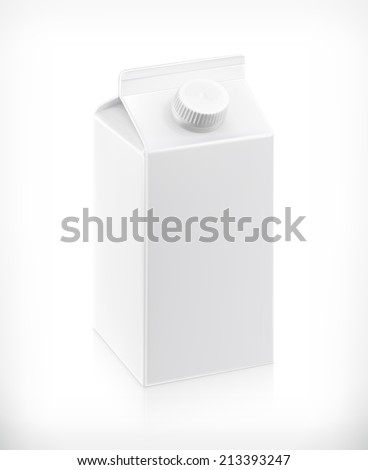 White cardboard milk package vector illustration stock vector