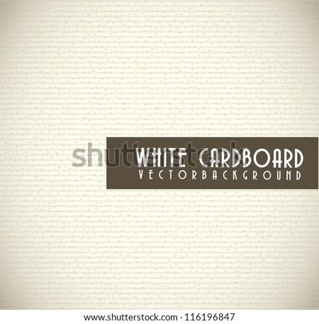 white cardboard texture background. vector illustration - stock vector