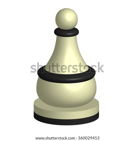 white chess piece pawn - stock vector