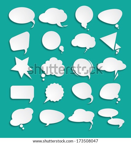 White clouds dialog  - stock vector