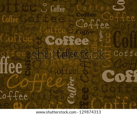 white coffee template. coffee concept - stock vector