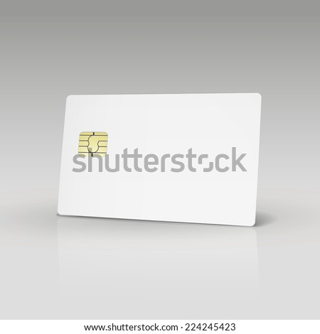 white credit card or phone card isolated on white background - stock vector