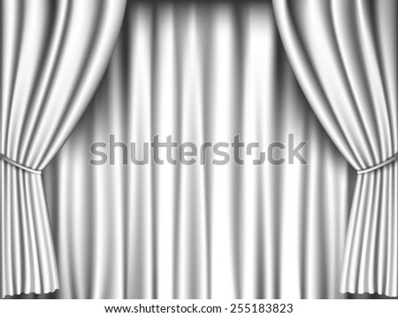 white curtain retro background - stock vector