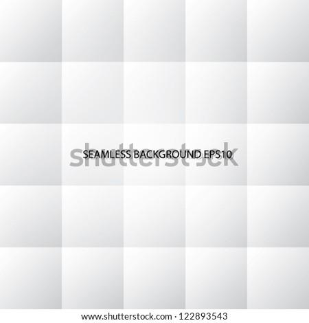 white 3d tiles. vector seamless background Eps10 - stock vector