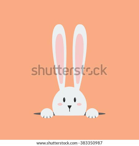 White easter rabbit. Easter Bunny - stock vector