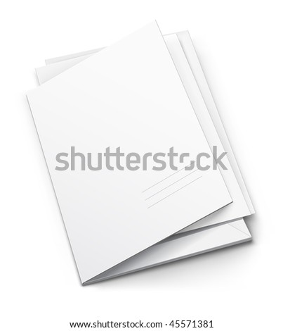 white folder with blank titular cover - vector illustration - stock vector