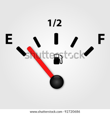 White Gas Gauge Illustration - stock vector