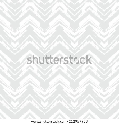 White geometric texture with hand drawn chevrons in silver for Christmas and holiday decor or wedding invitation background. Seamless vector pattern for winter fashion - stock vector
