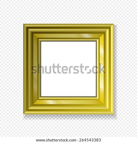 white gold-framed labels hanging paper sign frame gold picture vector shadow - stock vector