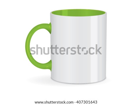 White green cup Ready for your design picture Mock up Vector EPS10 - stock vector