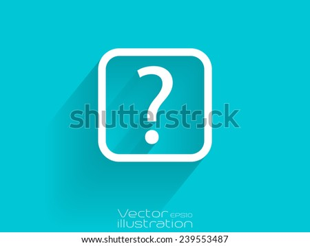 White help icon on blue background - stock vector
