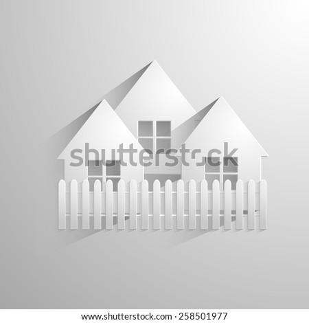 White house - stock vector