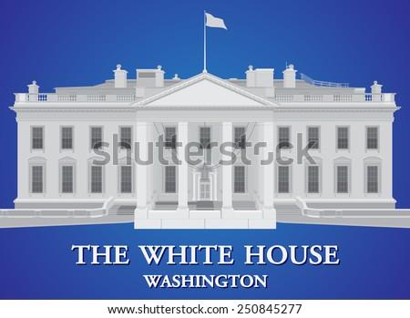 White House - detailed vector illustration  - stock vector