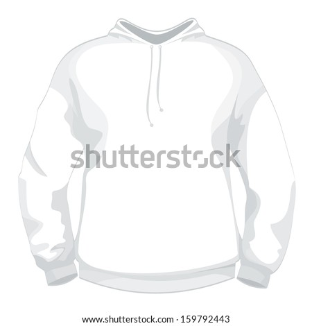 White jacket or sweater design template - stock vector