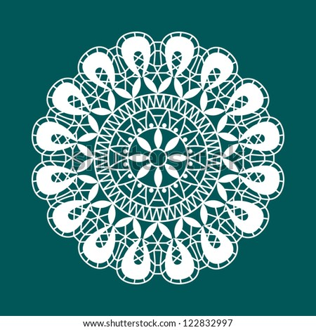 White lace - stock vector