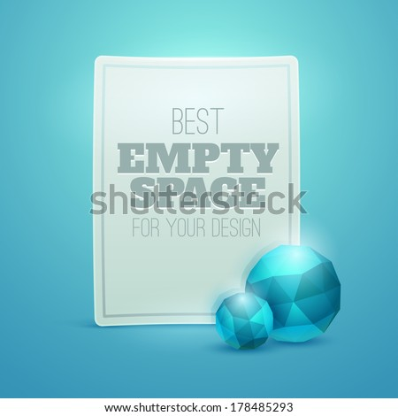 White luxury label with  diamonds(vector stickers) - stock vector