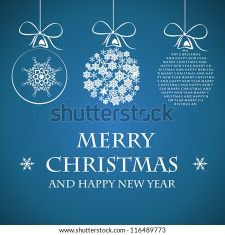 white merry christmas template. christmas concept. - stock vector