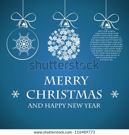 white merry christmas template. christmas concept. - stock vector