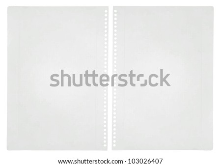 White old papers - stock vector